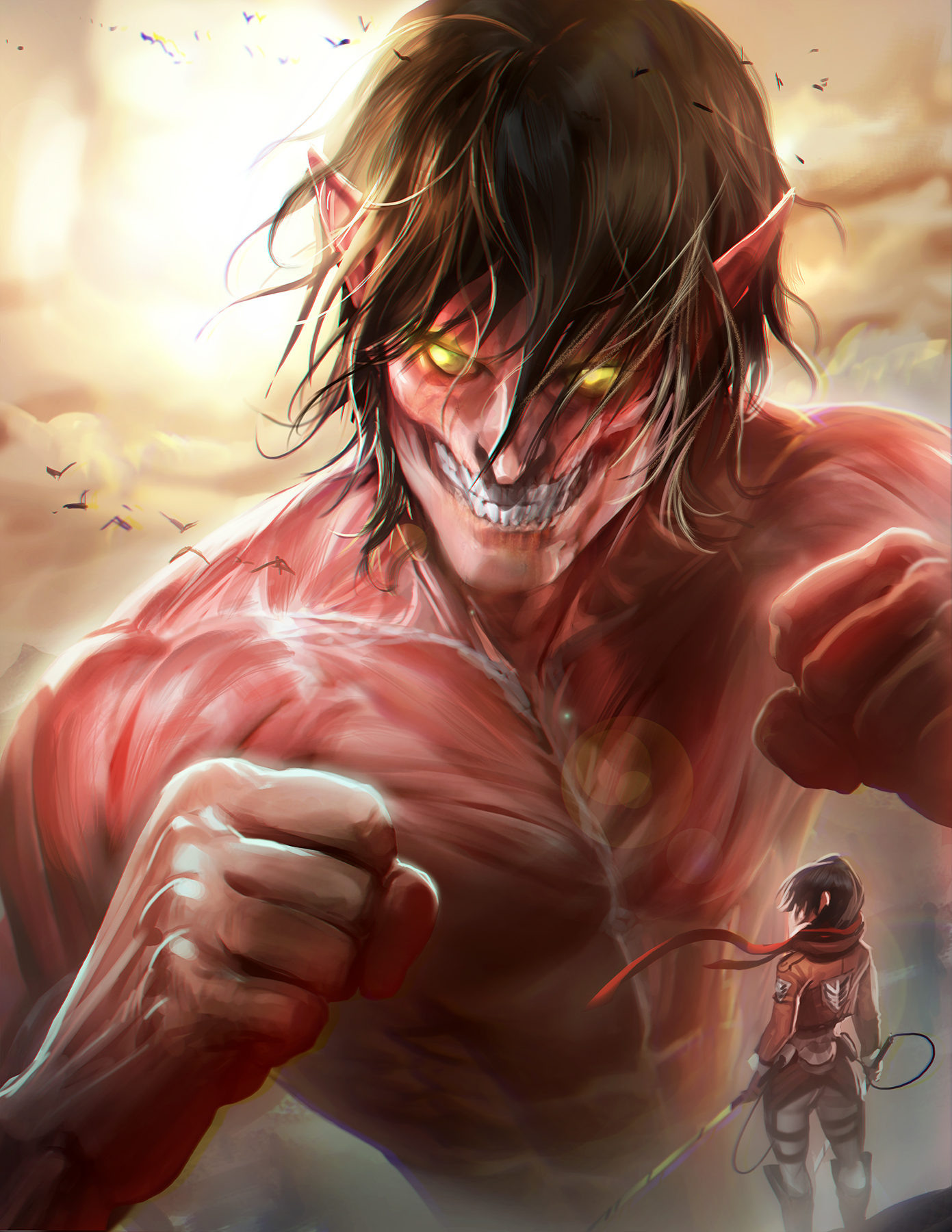 titans red shingeki no - photo #47