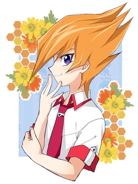 Tags: Anime, Pixiv Id 437499, Yu-Gi-Oh! ZEXAL, Yu-Gi-Oh!, Shingetsu Rei, Daisy (Flower), Chin In Hand