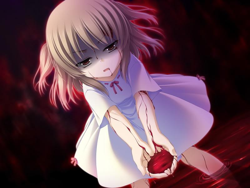 Картинки аниме девушек с кровью на аву