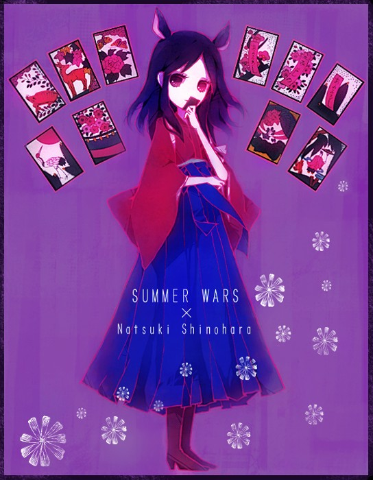 Tags: Anime, Summer Wars, Nezumimi, Flat Chest, Shinohara Natsuki, Hanafuda, Card (object)