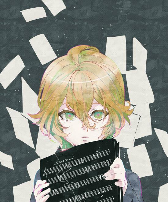 Tags: Anime, Chima Tsuitta, Uta no☆prince-sama♪, Shinomiya Natsuki, Sheet Music, Pixiv, Fanart