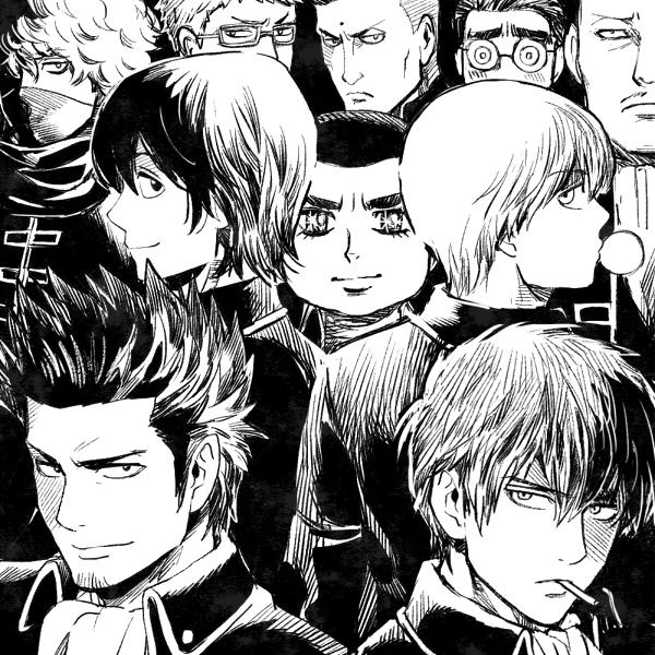 Tags: Anime, mm, Gintama, Kondo Isao, Harada Unosuke, Okita Sougo, Sasaki Tetsunosuke, Itou Kamotarou, Hijikata Toushirou, Saitou Shimaru, Kamiyama (Gintama), Yamazaki Sagaru, Kumanaku Seizou