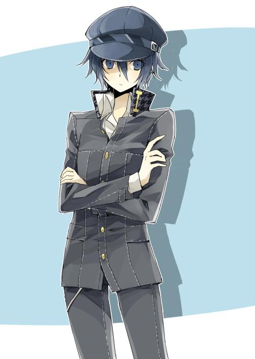 Tags: Anime, Shirako Miso, Shin Megami Tensei: PERSONA 4, Shirogane Naoto, Houndstooth Pattern, Cabbie Hat, Pixiv, Mobile Wallpaper