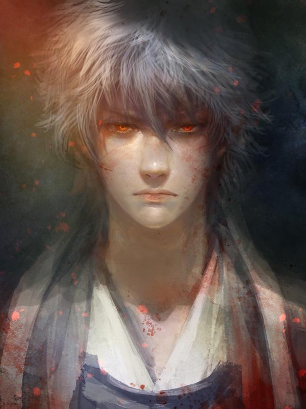 Tags: Anime, Tkr (Lovedelic99), Gintama, Shiroyasha, Sakata Gintoki, War, Fanart, Joui War, Pixiv