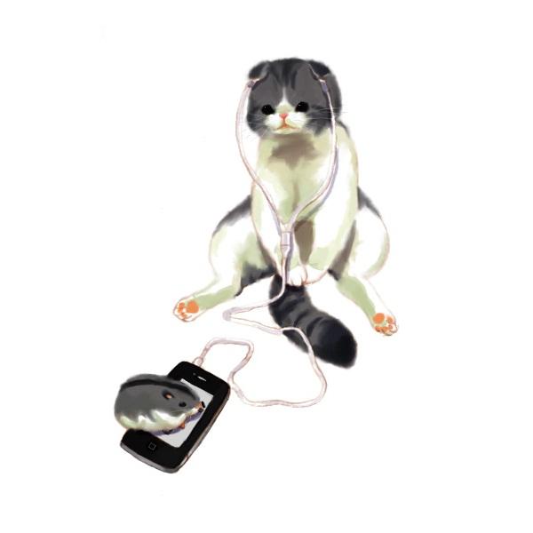 Tags: Anime, Shittori, iPhone, Hamster, Pixiv