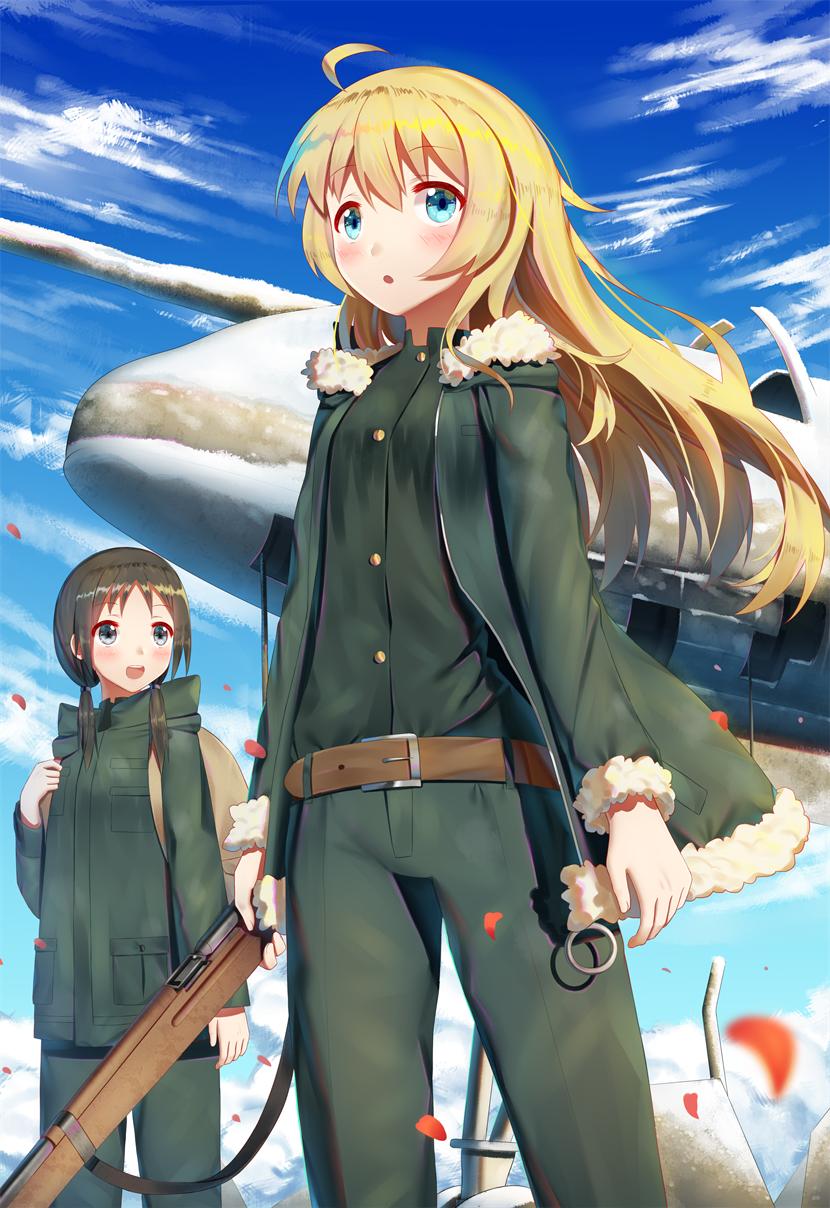 Аниме две девочки путешествуют по постапокалиптическому миру