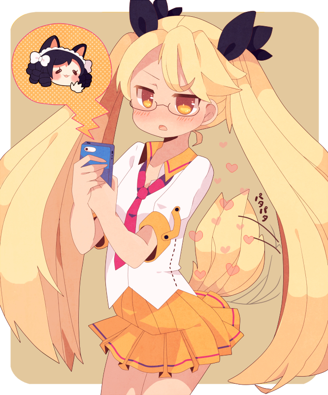 Tags: Anime, Pixiv Id 51239, Show by Rock!!, Retoree (Show by Rock!!), Cyan (Show by Rock!!), Wagging Tail, Fanart, Fanart From Pixiv, PNG Conversion, Pixiv