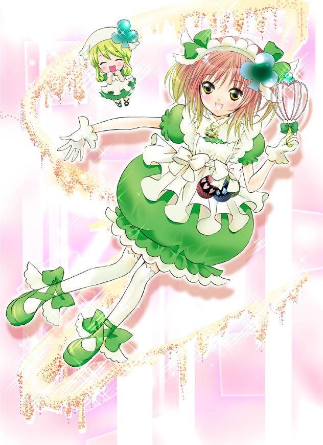 Tags: Anime, PEACH-PIT, Shugo Chara!, Shugo Chara! Illustrations, Amulet Clover, Hinamori Amu, Su (Shugo Chara!), Mobile Wallpaper, Official Art
