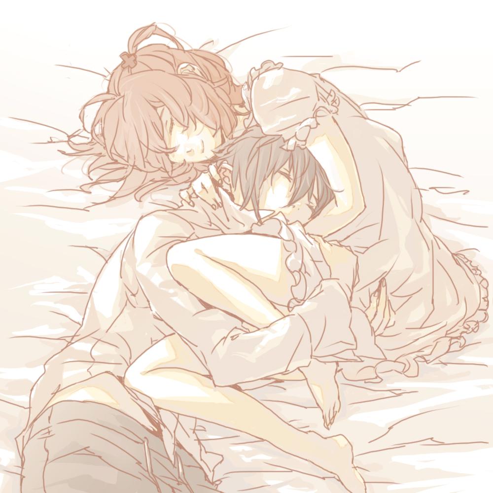 Аниме картинки девушка спит с парнем