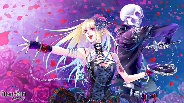 Tags: Anime, Asajima Yoshiyuki, Silver Rain, Egoistic Rose, Laced Up, CD (Object), Pixiv, Facebook Cover