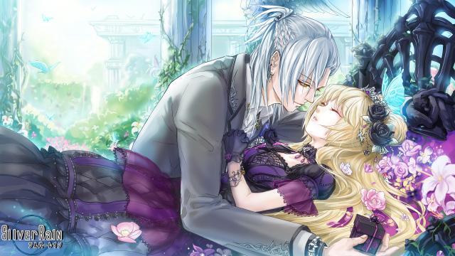 Tags: Anime, Kuroba (Pixiv15793), Silver Rain, Black Flower, Kodona, Facebook Cover, CG Art, Character Request