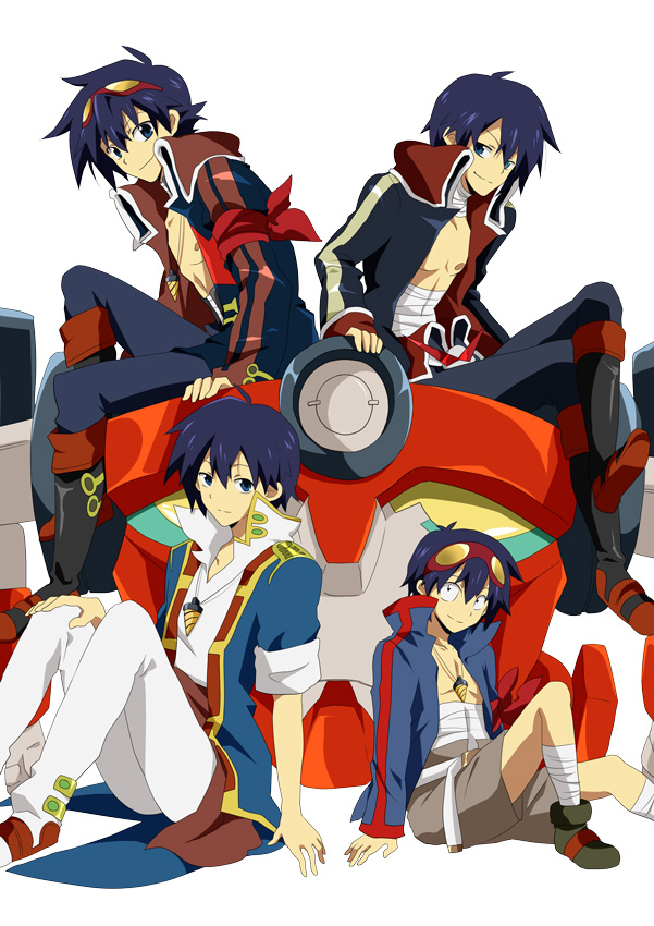 Tags: Anime, Pixiv Id 466254, Tengen Toppa Gurren-Lagann, Lagann, Simon (Tengen Toppa Gurren-Lagann), Mobile Wallpaper