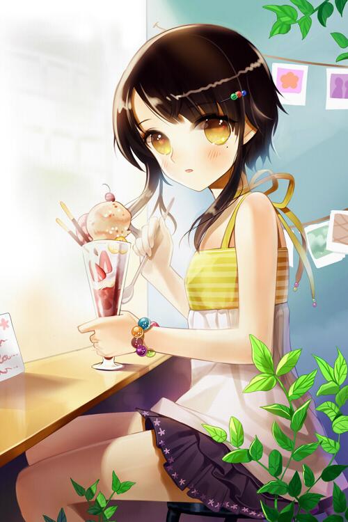Sita vilosa 1354050 zerochan - Ice cream anime girl ...