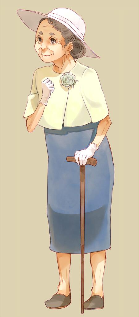 Tags: Anime, Sizukani, Grandmother, Pixiv, Original