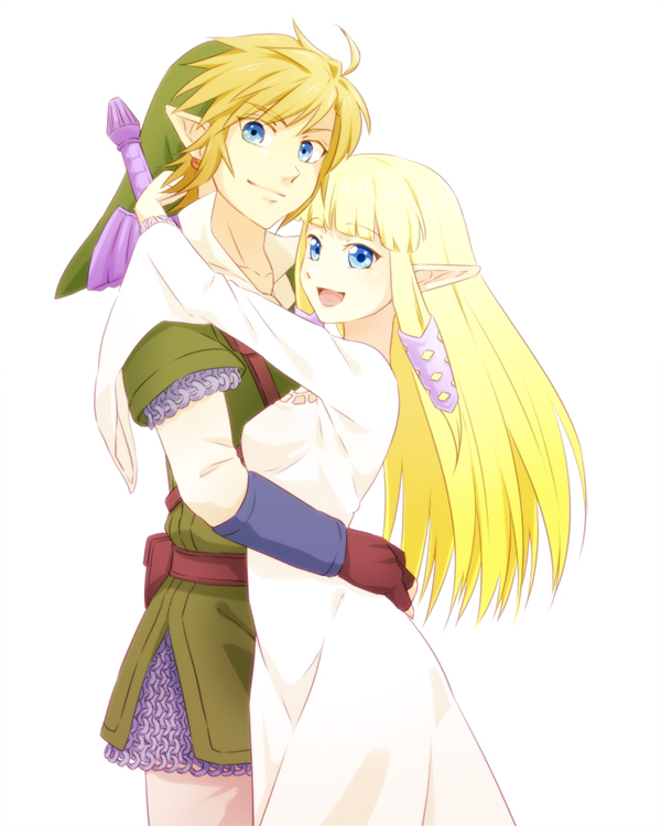 Legend of zelda link and zelda