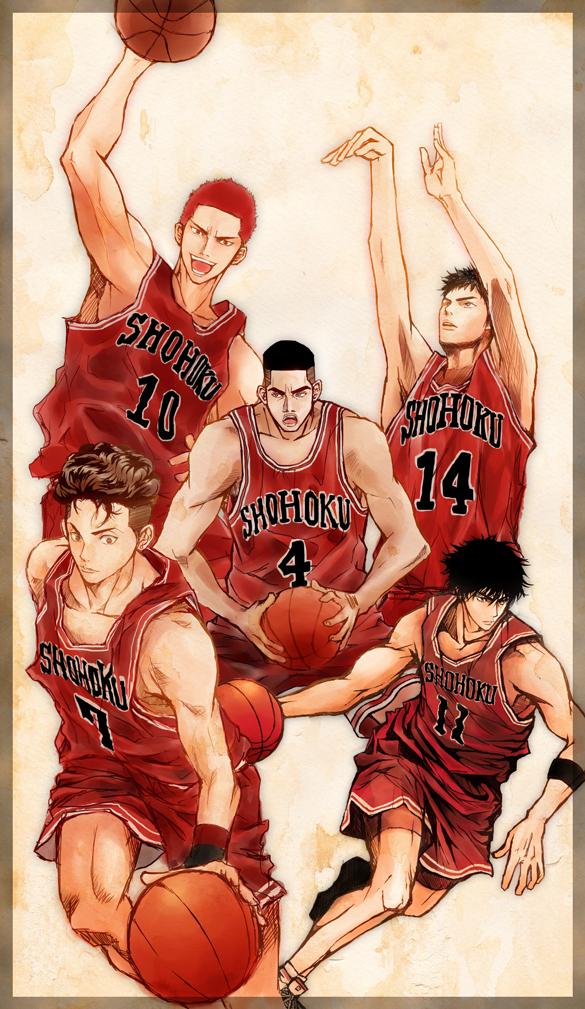 Tags: Anime, LEO*PON, Slam Dunk, Miyagi Ryouta, Mitsui Hisashi, Akagi Takenori, Rukawa Kaede, Sakuragi Hanamichi, Afro