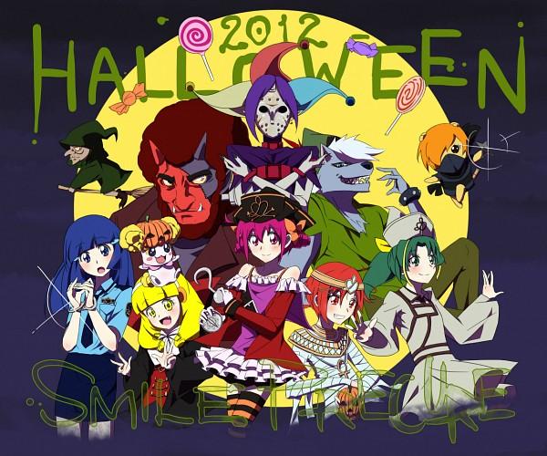 Tags: Anime, Pixiv Id 206112, Smile Precure!, Joker (Smile Precure), Hino Akane, Wolfrun, Hoshizora Miyuki