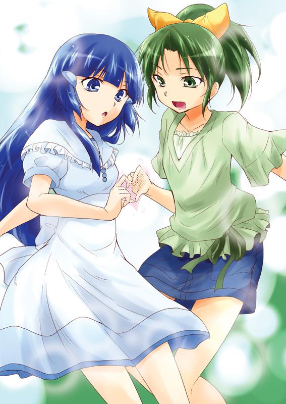Tags: Anime, Urutsu Sahari, Smile Precure!, Aoki Reika, Midorikawa Nao, Heart Gesture Duo, Fanart, Fanart From Pixiv, Pixiv