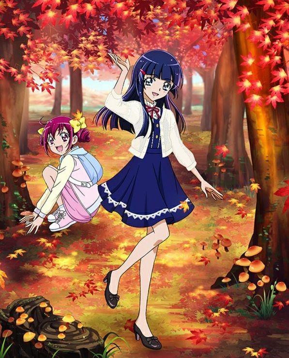 Tags: Anime, Smile Precure!, Precure Tsunagaru Puzzlun, Aoki Reika, Hoshizora Miyuki