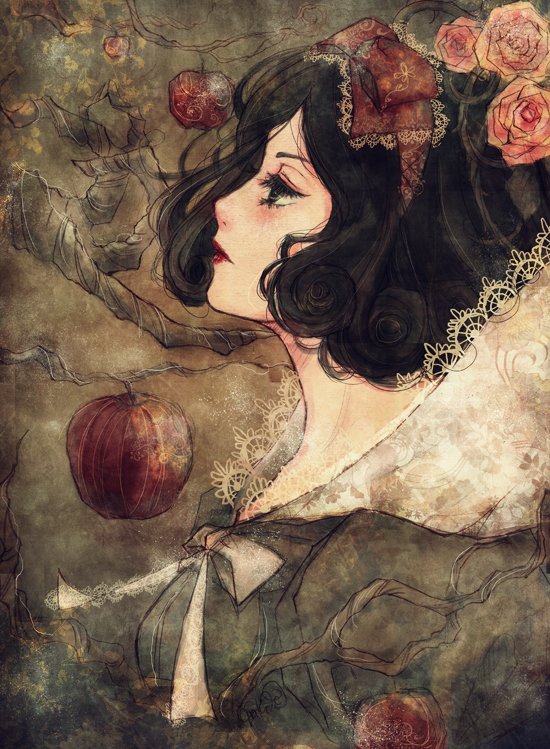 Tags: Anime, plui, Snow White and the Seven Dwarfs, Snow White, Sad, Elderly, Red Lips