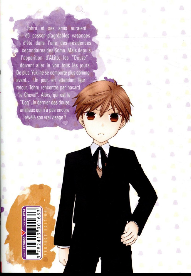 Tags: Anime, Takaya Natsuki, Fruits Basket, Sohma Hiro, Barcode, French Text, Official Art, Manga Cover