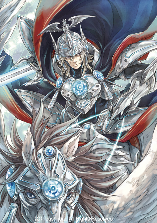 Tags: Anime, Hagiya Kaoru, Bushiroad, Cardfight!! Vanguard - Official Card Illustration, Cardfight!! Vanguard, Solitary Knight Gancelot, Official Art, Official Card Illustration, Mobile Wallpaper, Vanguard Unit, Royal Paladin, Vanguard Race: Elf