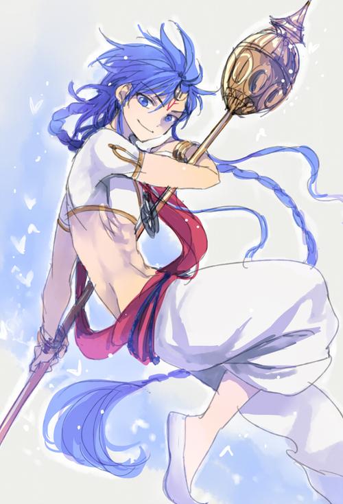 Tags: Anime, MAGI: The Labyrinth of Magic, Solomon Jehoahaz Abraham, Divine Staff, Rukh, Pixiv, Fanart, Mobile Wallpaper, Fanart From Pixiv