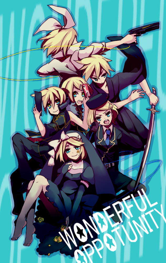 Tags: Anime, Sachirika, VOCALOID, Kagamine Rin, Kagamine Len, Remote Control, Song-Over, Mobile Wallpaper, Kagamine Mirrors