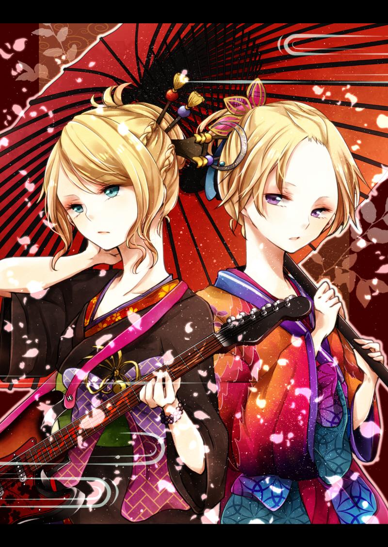 Song over mobile wallpaper 1336866 zerochan anime image - Kagamine rin project diva ...