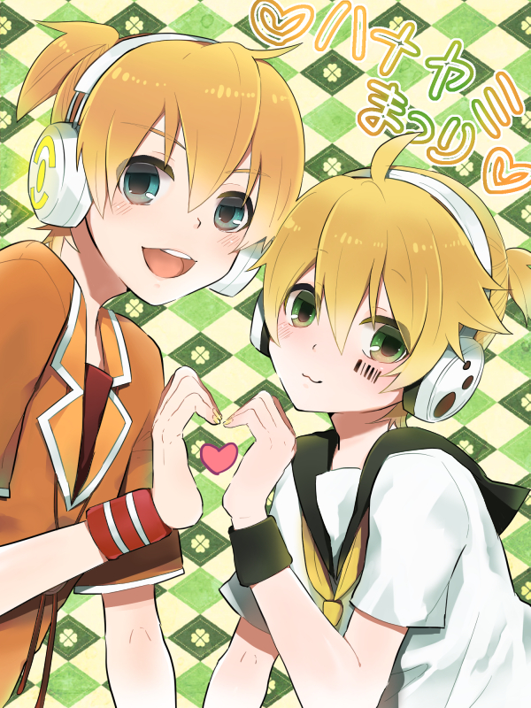 Tags: Anime, Pixiv Id 17727, Sega, Project DIVA F 2nd, Project DIVA Extend, Project DIVA F, VOCALOID, Kagamine Len, Heart Gesture Duo, Barcode, The Benzene Series, Project DIVA Starmine, Song-Over