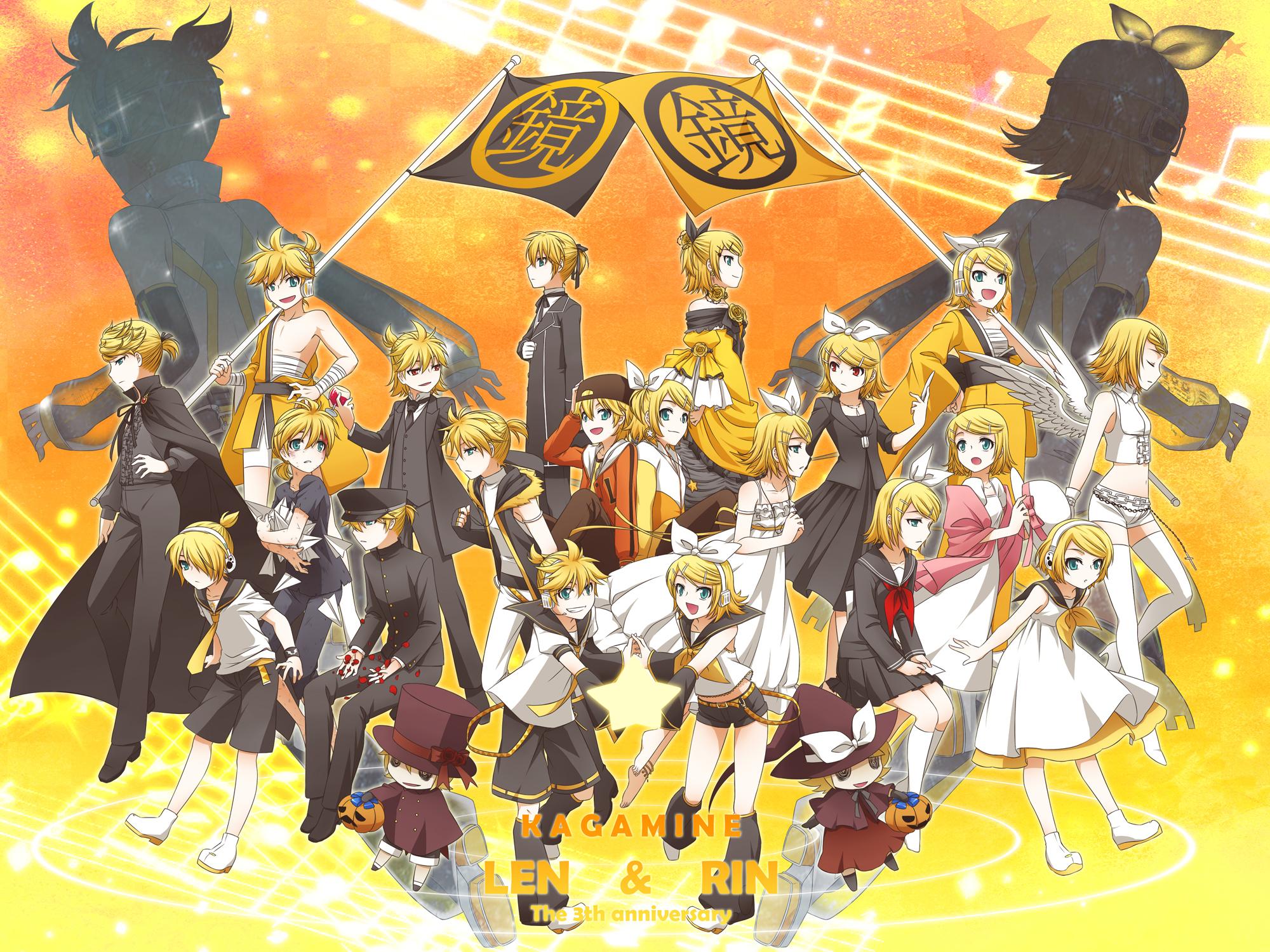Kagamine Rin Rin Kagamine Wallpaper Zerochan Anime