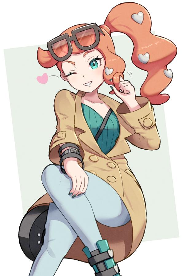 Tags: Anime, Gonzarez, Pokémon Sword & Shield, Pokémon, Sonia (Pokémon), Heart Hair Ornament, Heart Clip