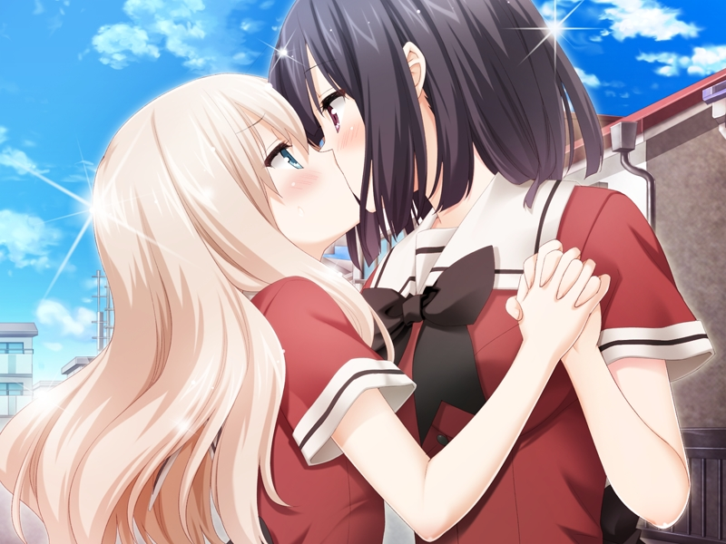 Anime kiss blonde black — pic 11