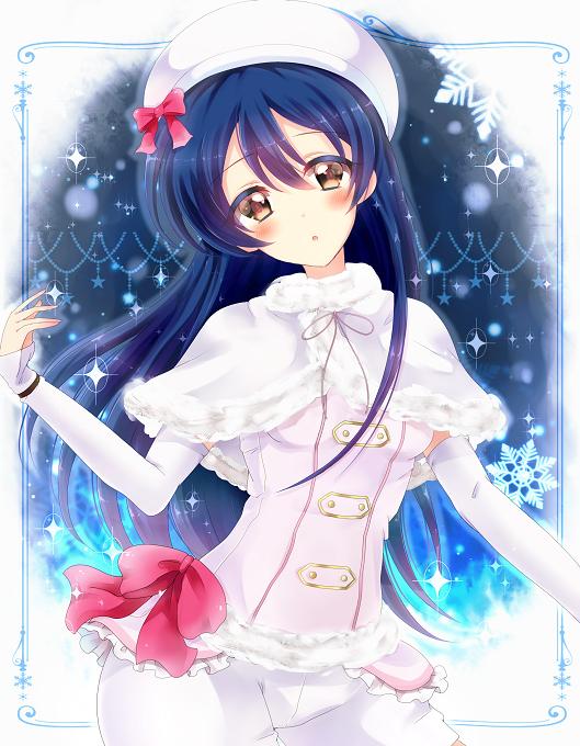 Tags: Anime, Pixiv Id 12217973, Love Live!, Sonoda Umi, Snow Halation, PNG Conversion, Umi Sonoda