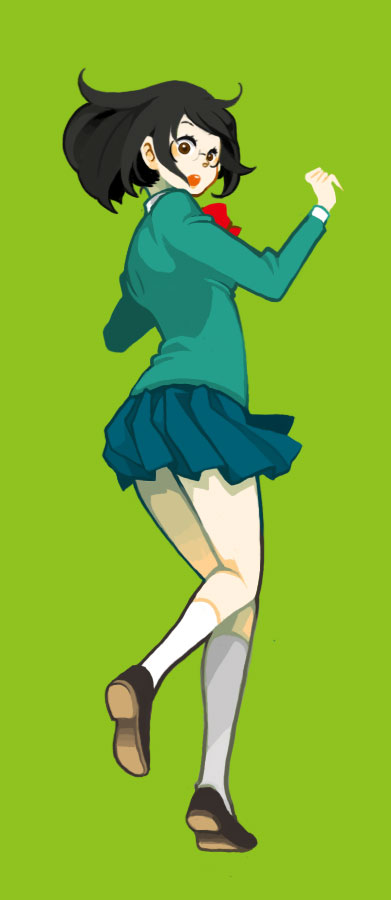 Tags: Anime, Pixiv Id 171346, DURARARA!!, Sonohara Anri, Green Background