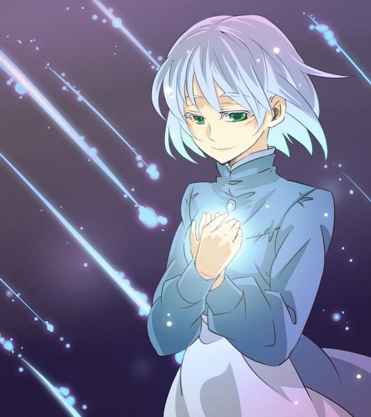 Tags: Anime, Feeline Isi, Studio Ghibli, Howl no Ugoku Shiro, Sophie Hatter, Glow, Blue Dress