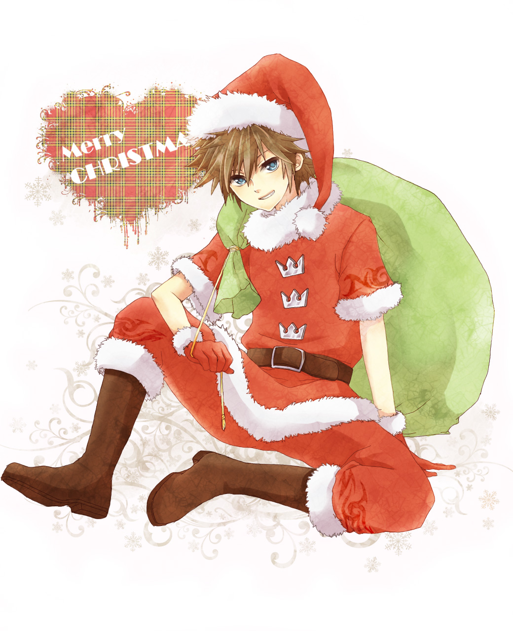 Kingdom Hearts Christmas Sora bigking keywords and pictures
