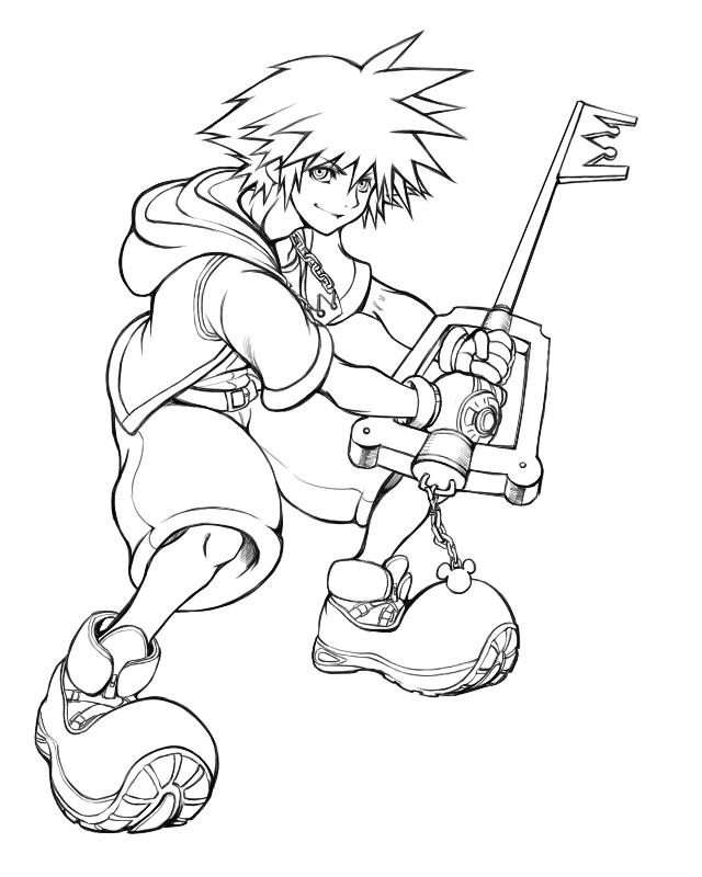Sora Kingdom Hearts Lineart : Sora kingdom hearts image zerochan anime
