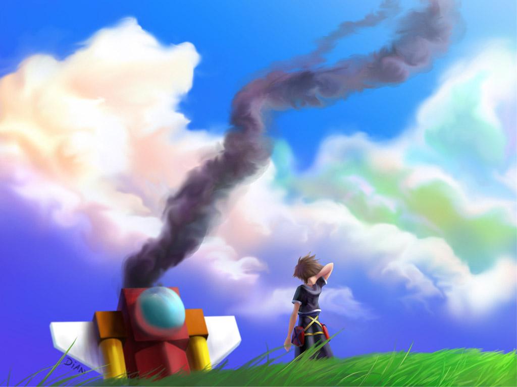 sora kingdom hearts wallpaper 486950 zerochan anime image board
