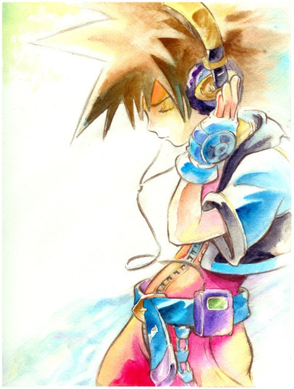 Tags: Anime, SQUARE ENIX, Subarashiki Kono Sekai, Kingdom Hearts, Sora (Kingdom Hearts), Artist Request, Traditional Media