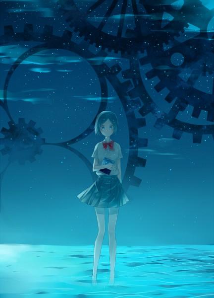 Tags: Anime, Inazuma Eleven, Blue Skirt, Stars (Sky), Night Sky, Inazuma Eleven GO, Sorano Aoi