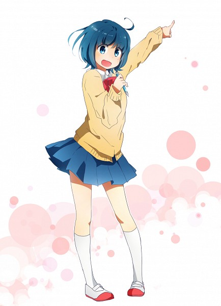 Tags: Anime, Sweater, Blue Skirt, Inazuma Eleven GO, Sorano Aoi, Pixiv Id 4390783, Inazuma Eleven GO Galaxy