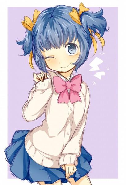 Tags: Anime, Sweater, Blue Skirt, Inazuma Eleven GO, Sorano Aoi, Inazuma Eleven GO Galaxy, Pixiv Id 3683002