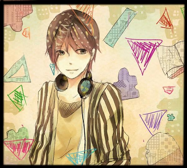 Tags: Anime, Pixiv Id 2836705, Soraru, Puzzle Piece, Triangle, Headphones Around Neck