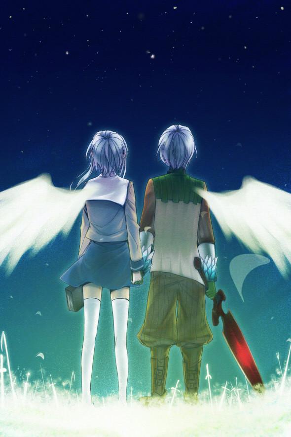 Tags: Anime, Suzunosuke, Rukia (Sound Horizon), Tsurugi no Shounen, Shounen Wa Tsurugi Wo..., Chronicle 2nd, Mobile Wallpaper, Fanart, Sound Horizon