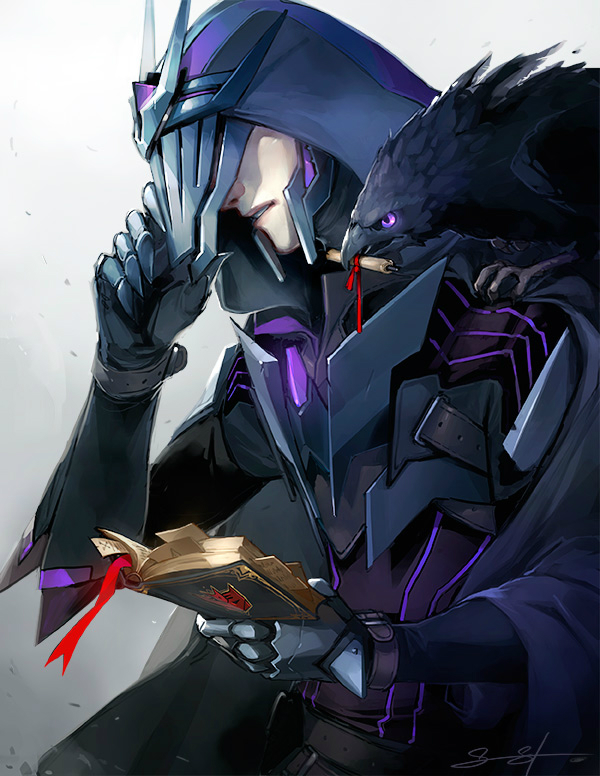 Tags: Anime, Sarah Stone, Transformers, Soundwave (Transformers), Bird on Shoulder, Mecha (Personification), deviantART
