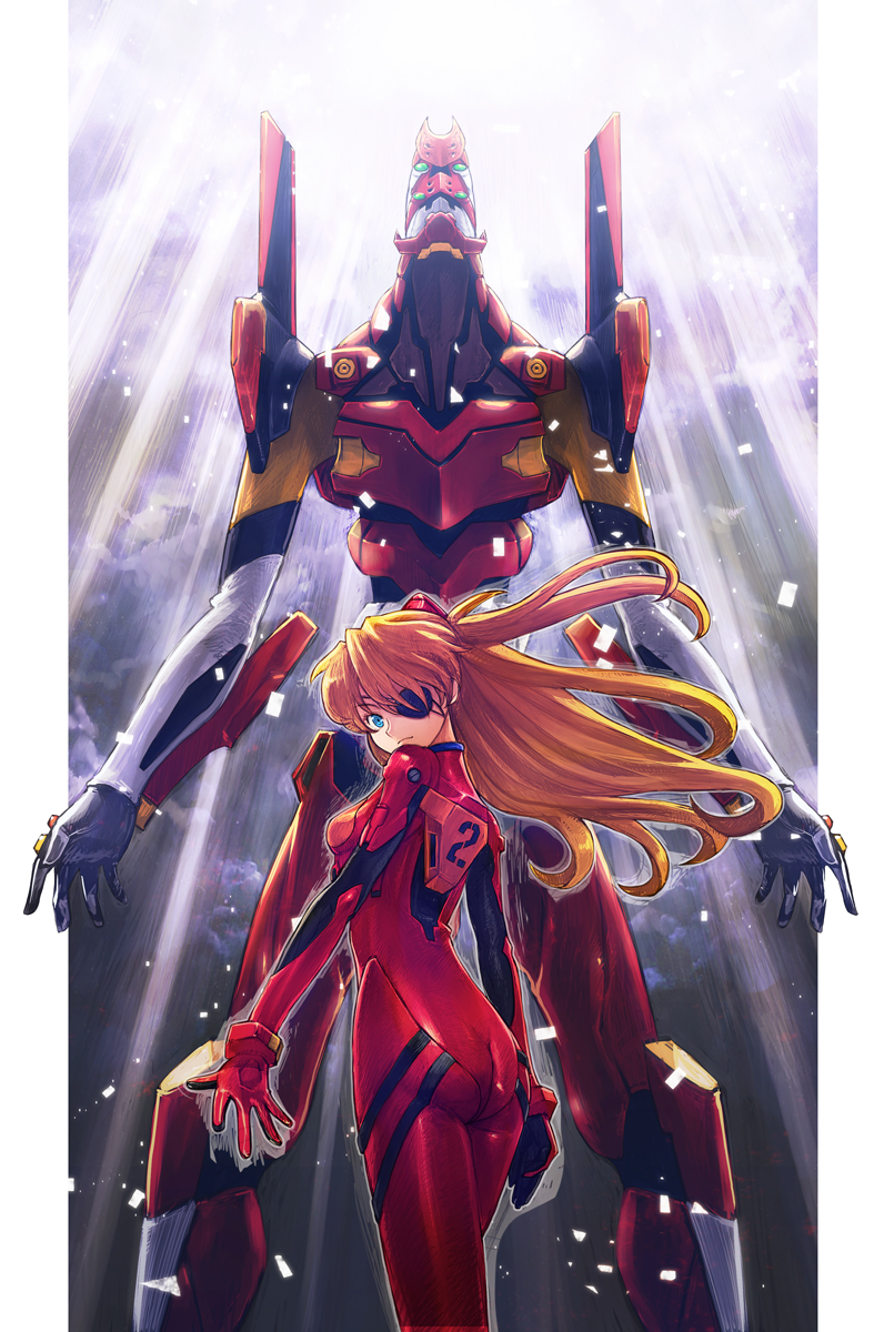 Souryuu Asuka Langley (Asuka Langley Soryu) - Neon Genesis ... Glowing Eyes Anime