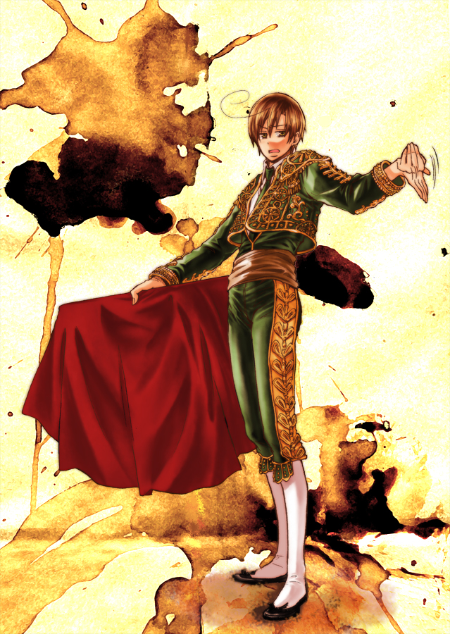 Tags: Anime, Pixiv Id 1221014, Axis Powers: Hetalia, South Italy, Bull Fighter, Mobile Wallpaper, Pixiv, Fanart, Mediterranean Countries