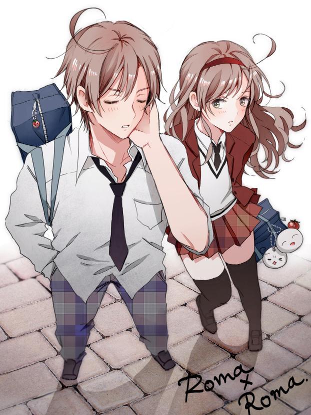 Tags: Anime, Hishi, Axis Powers: Hetalia, South Italy (Female), Spain, Mochi South Italy, Mochi Spain, South Italy, Pixiv, Nyotalia, Fanart, Mochitalia, Mediterranean Countries