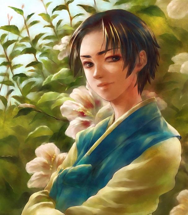 Tags: Anime, Klockey, Axis Powers: Hetalia, South Korea, Korean Clothes, Hanbok, Pixiv, Fanart, Fanart From Pixiv, Watercolor